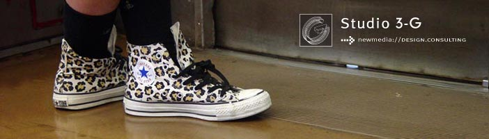Photo of Leopard Print, Chuck Taylor, Hi-top Sneakers Copyright (c) 2004 Ryan Belong, All rights reserved
